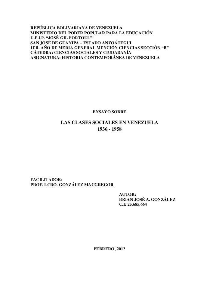 "REPÚBLICA BOLIVARIANA DE VENEZUELAMINISTERIO DEL PODER POPULAR PARA LA EDUCACIÓNU.E.I.P. ""JOSÉ GIL FORTOUL""SAN JOSÉ DE GUA..."