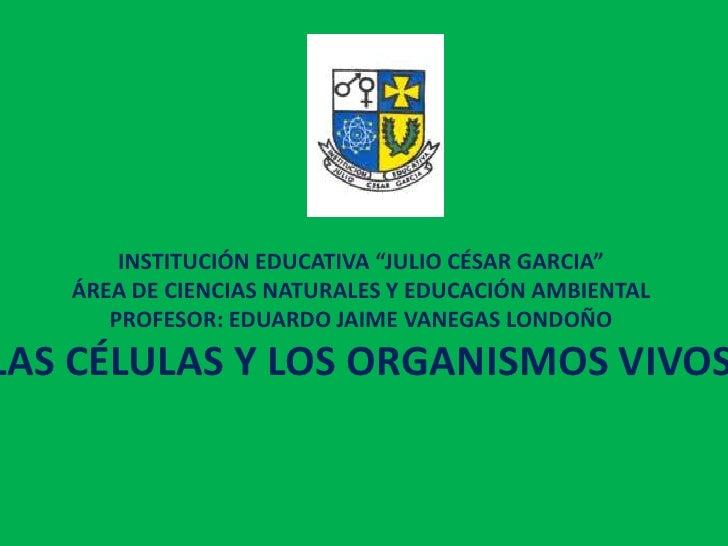 """INSTITUCIÓN EDUCATIVA """"JULIO CÉSAR GARCIA""""   ÁREA DE CIENCIAS NATURALES Y EDUCACIÓN AMBIENTAL      PROFESOR: EDUARDO JAIME..."""