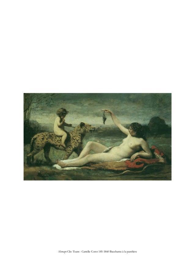 Abrupt Clio Team - Camille Corot 185-1860 Bacchante à la panthère