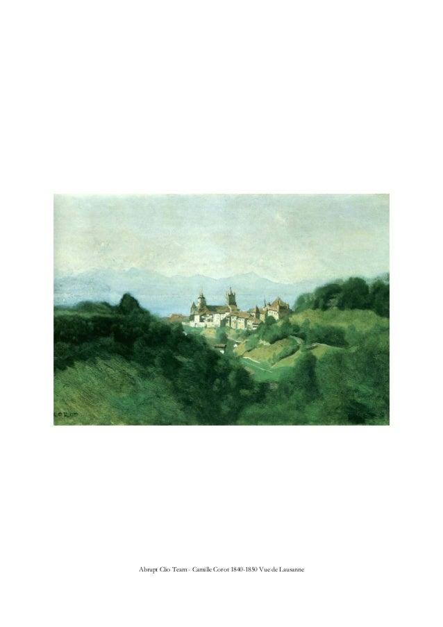 Abrupt Clio Team - Camille Corot 1840-1850 Vue de Lausanne