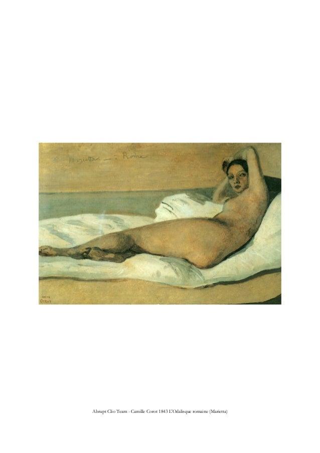 Abrupt Clio Team - Camille Corot 1843 L'Odalisque romaine (Marietta)