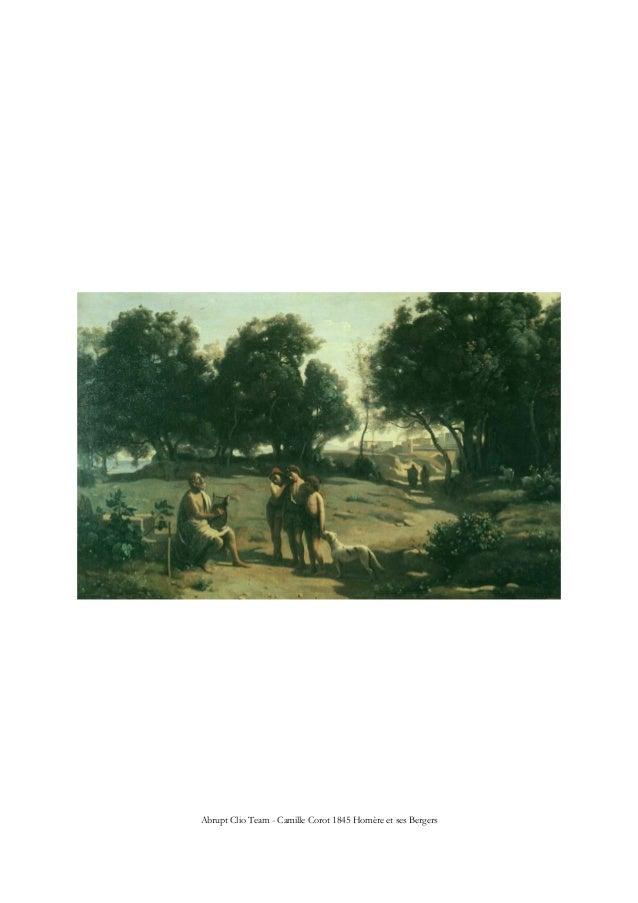 Abrupt Clio Team - Camille Corot 1845 Homère et ses Bergers