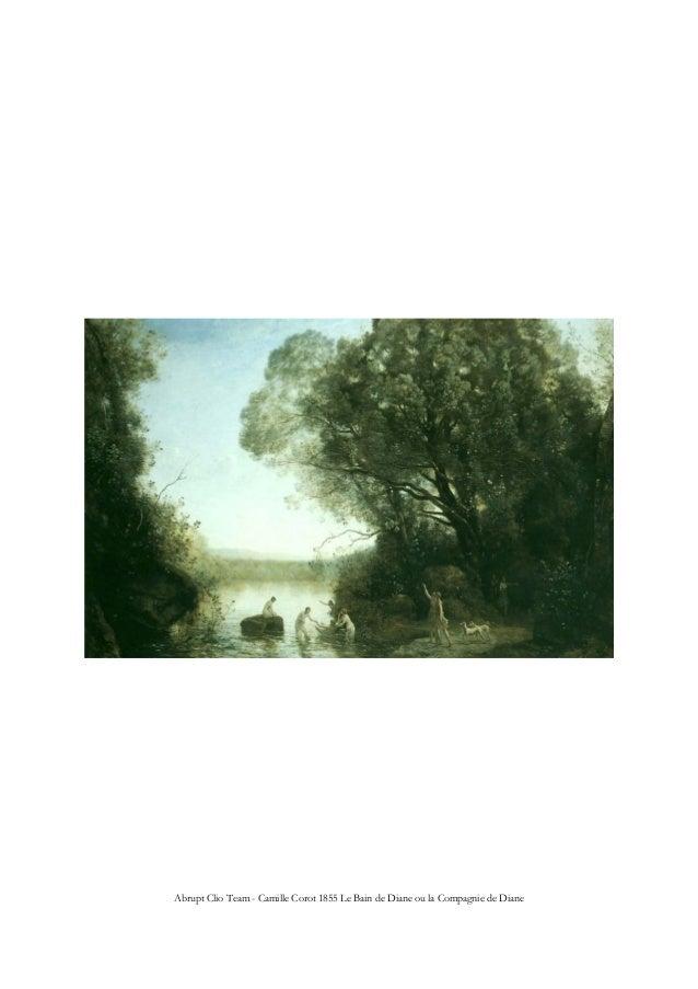 Abrupt Clio Team - Camille Corot 1855 Le Bain de Diane ou la Compagnie de Diane