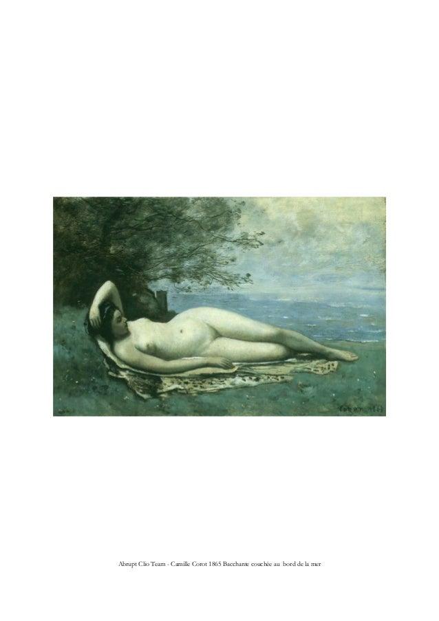 Abrupt Clio Team - Camille Corot 1865 Bacchante couchée au bord de la mer