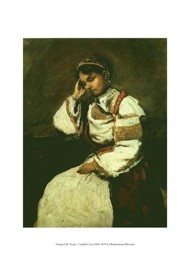 Abrupt Clio Team - Camille Corot 1865-1870 La Bohémienne Rêveuse
