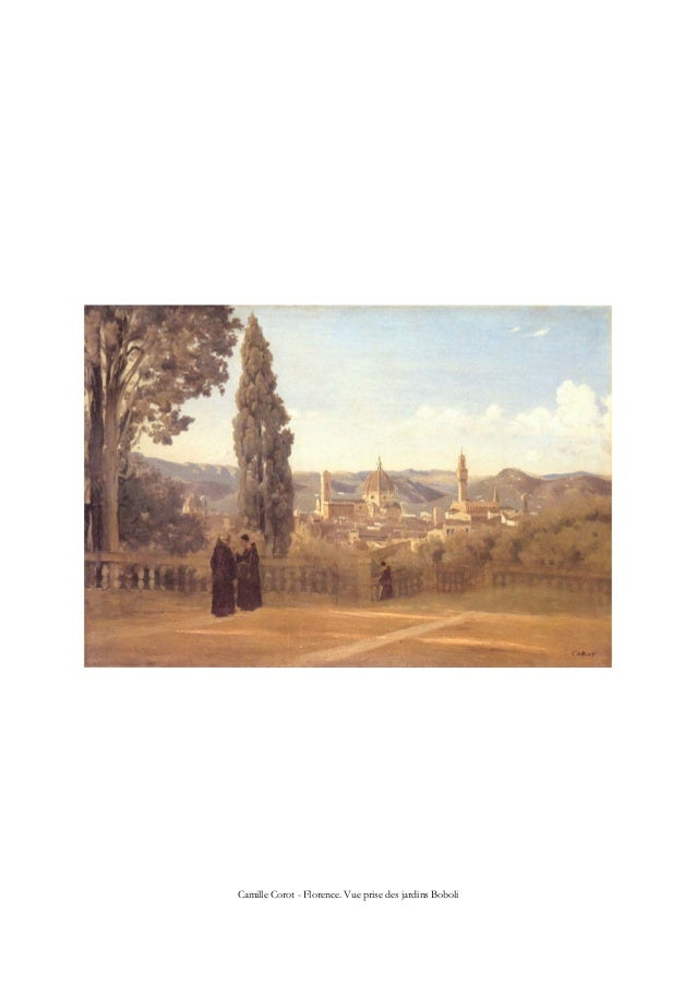Camille Corot - Florence. Vue prise des jardins Boboli