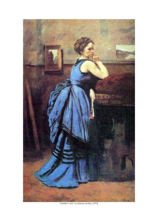 Camille Corot - La femme en bleu (1874)