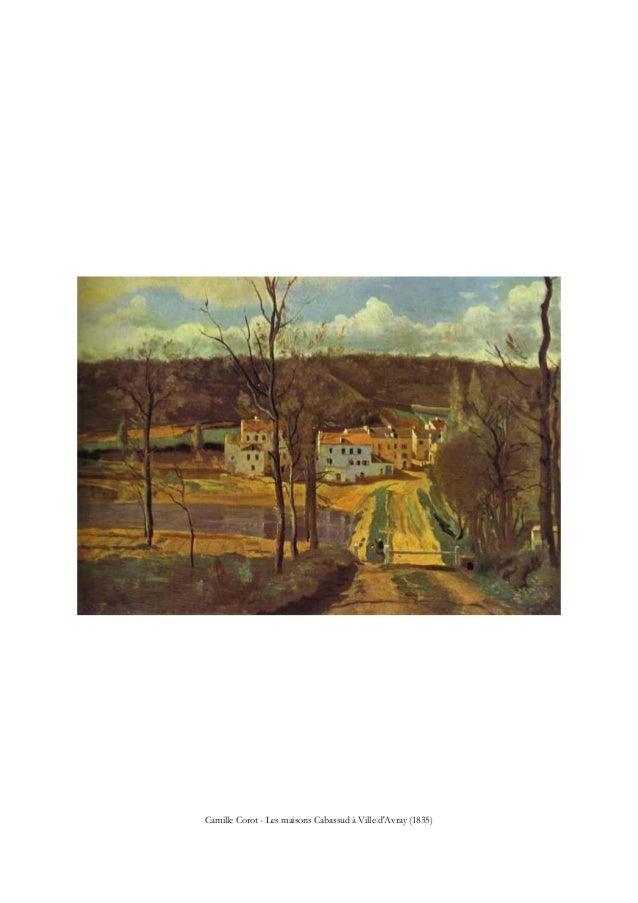 Camille Corot - Les maisons Cabassud à Ville d'Avray (1835)