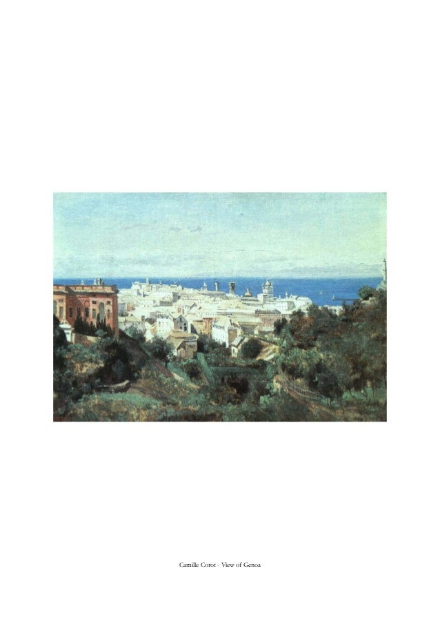Camille Corot - View of Genoa