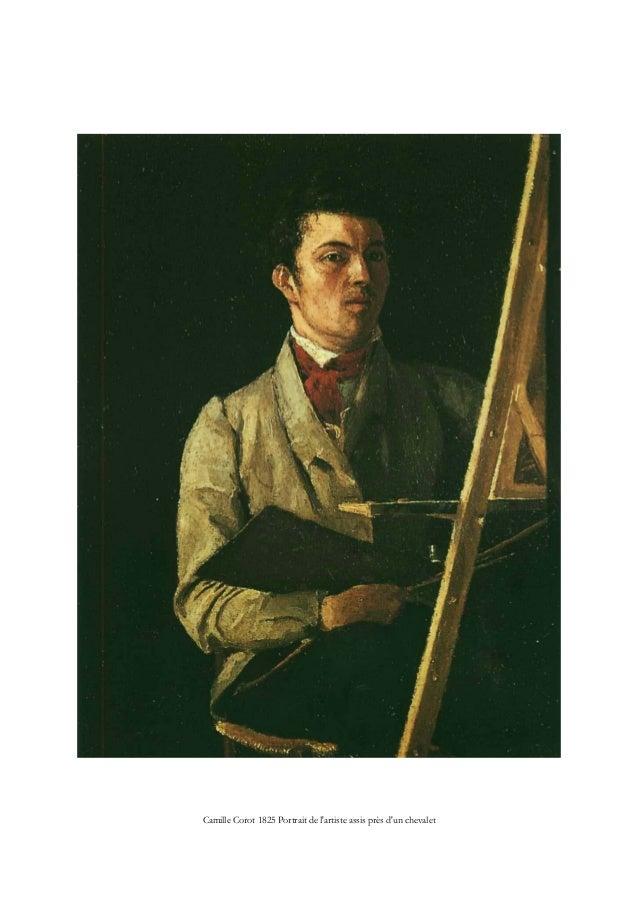 Camille Corot 1825 Portrait de l'artiste assis près d'un chevalet