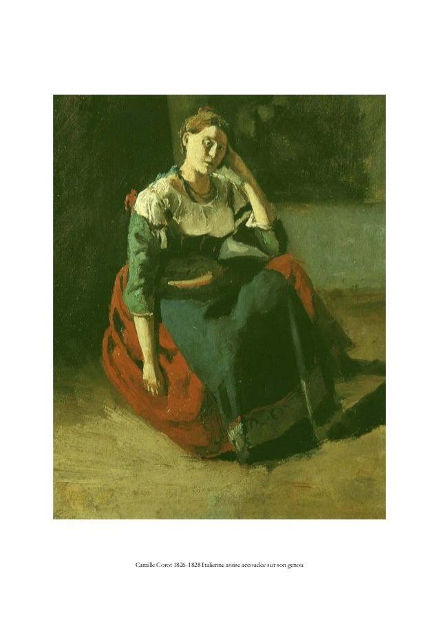 Camille Corot 1826-1828 Italienne assise accoudée sur son genou