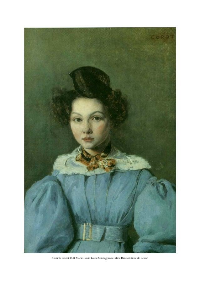 Camille Corot 1831 Marie Louis Laure Sennegon ou Mme Baudot nièce de Corot