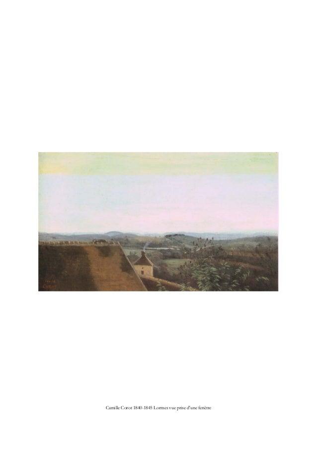 Camille Corot 1840-1845 Lormes vue prise d'une fenêtre