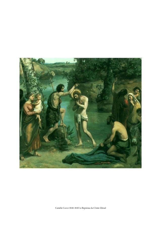 Camille Corot 1844-1845 le Baptême du Christ Détail