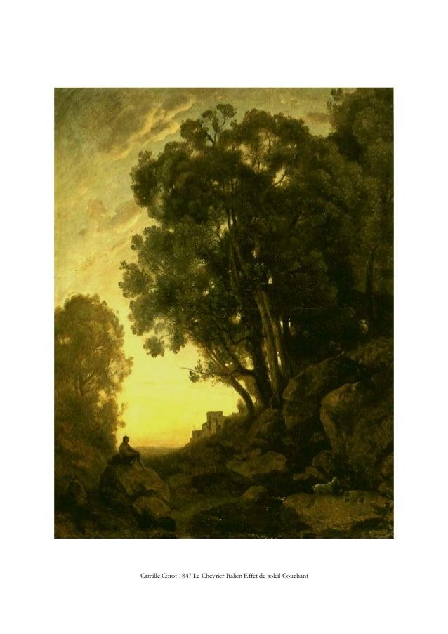 Camille Corot 1847 Le Chevrier Italien Effet de soleil Couchant