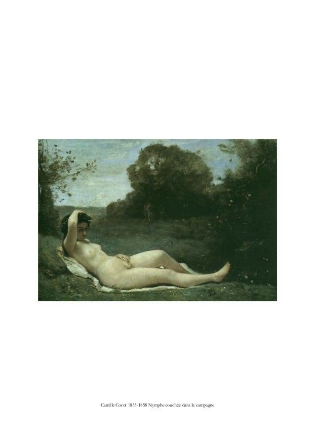 Camille Corot 1855-1858 Nymphe couchée dans la campagne