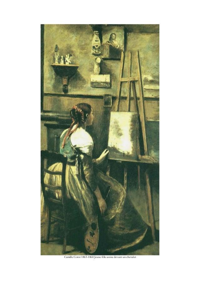 Camille Corot 1865-1868 Jeune fille assise devant un chevalet