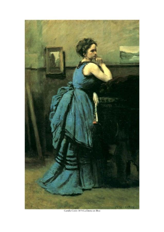 Camille Corot 1874 La Dame en Bleu