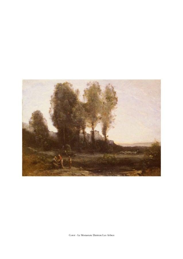 Corot - Le Monastere Derriere Les Arbres