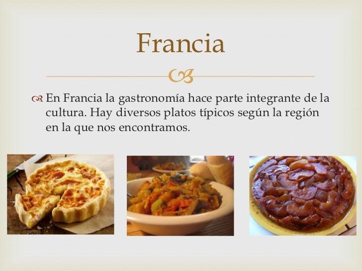 Las comidas t picas for Gastronomia de paris francia
