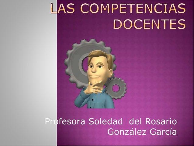 Profesora Soledad del Rosario González García