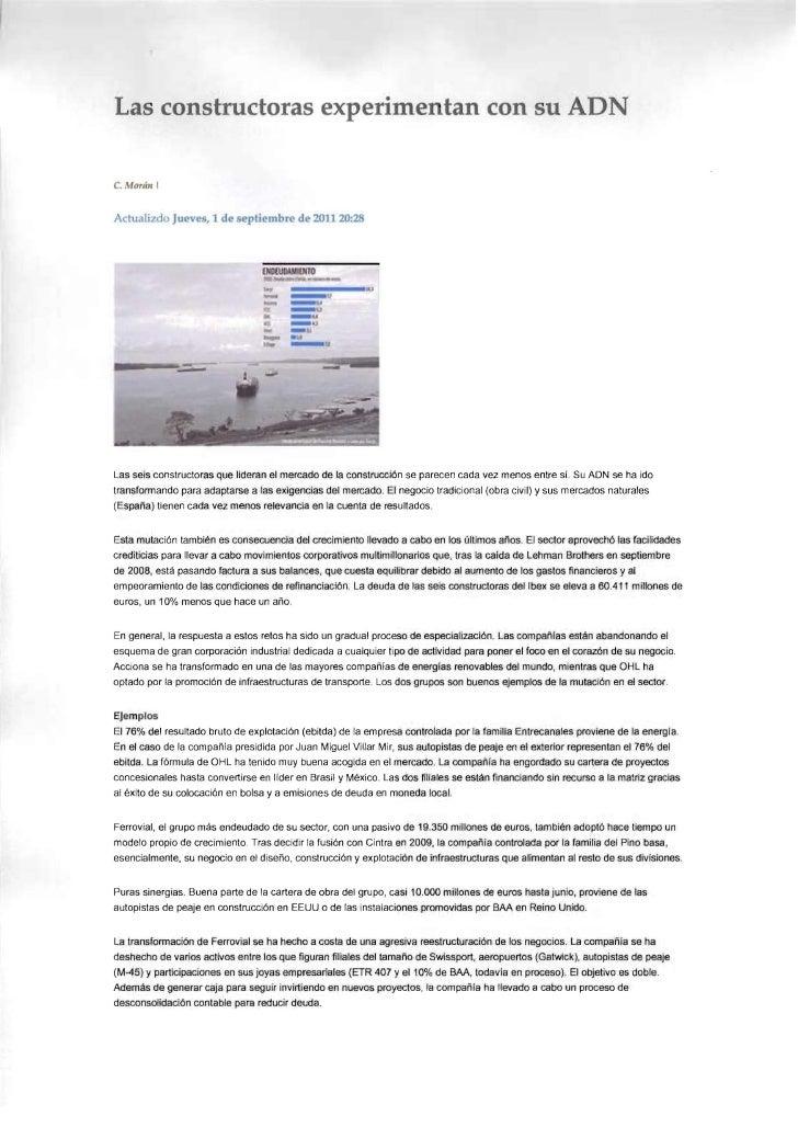 Las constructoras experimentan con su ADN C.   MOTIIII IActualizcl Jueves, 1 de eptiembre de 2011 20:28Las seis constructo...
