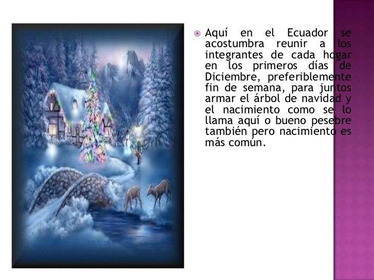 Las costumbres de navidad en el ecuador Slide 2
