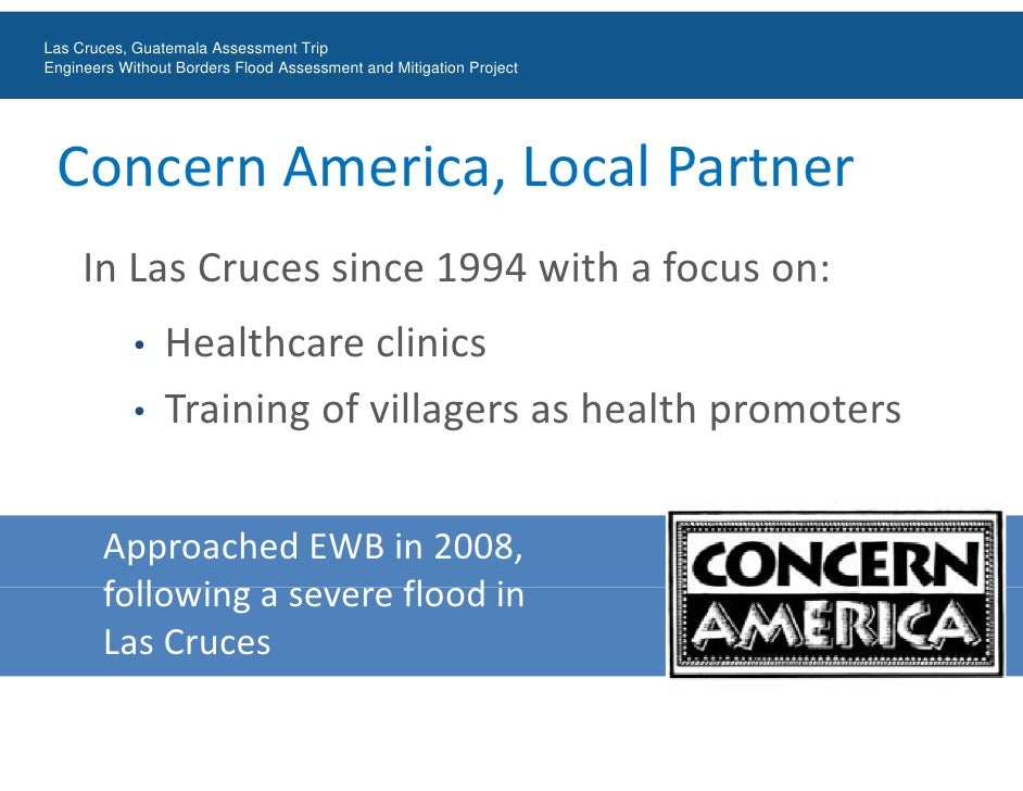 Engineers Without Borders Las Cruces, Guatemala Flood Assessment Trip Slide 3