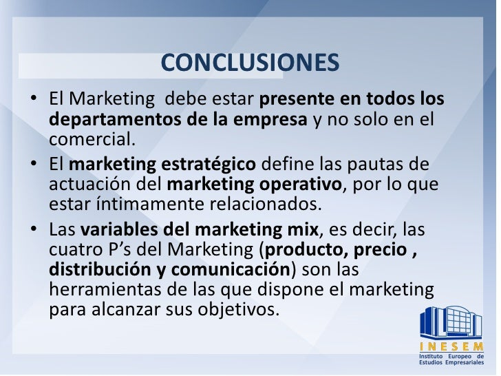 marketing mix conclusion Report the aim of this report is to analyse the current marketing mix of sainsbury's, and to work out how it would be adjusted to satisfy the possibilities.