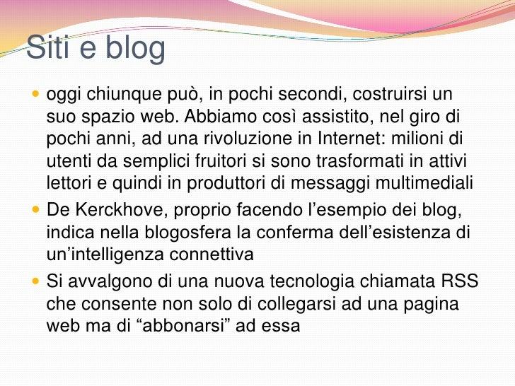 Siti e blog oggi chiunque può, in pochi secondi, costruirsi un  suo spazio web. Abbiamo così assistito, nel giro di  poch...