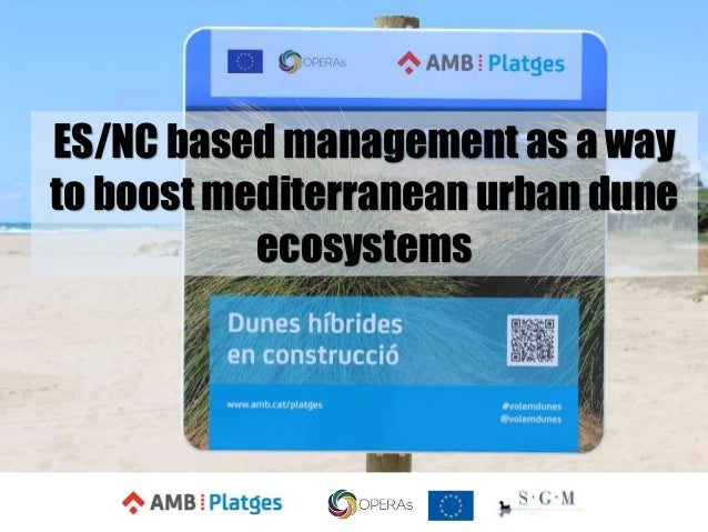ES/NC based management as a way to boost mediterranean urban dune ecosystems