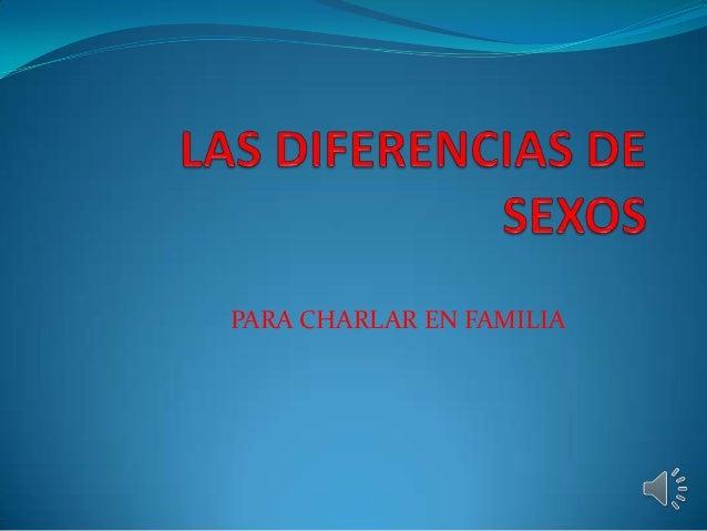 PARA CHARLAR EN FAMILIA