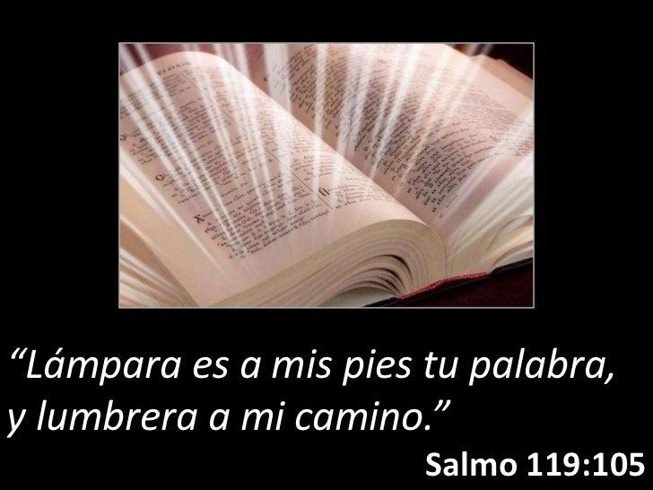 """""""Lámpara es a mis pies tu palabra,y lumbrera a mi camino.""""                       Salmo 119:105"""