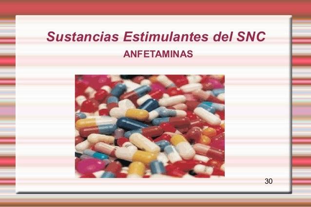 Sustancias Estimulantes del SNC          ANFETAMINAS                              30