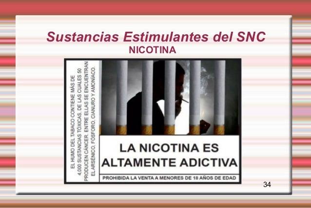 Sustancias Estimulantes del SNC           NICOTINA                              34