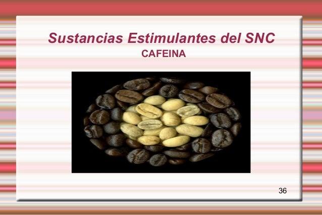 Sustancias Estimulantes del SNC            CAFEINA                                  36