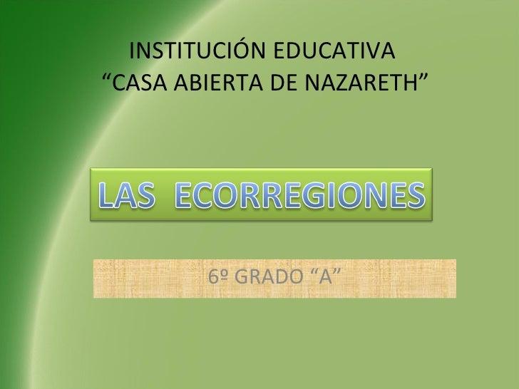 """INSTITUCIÓN EDUCATIVA  """"CASA ABIERTA DE NAZARETH"""" 6º GRADO """"A"""""""