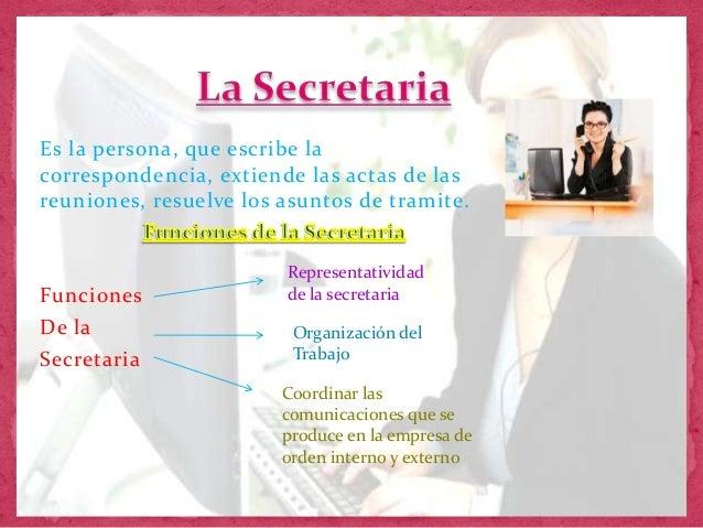 La secretaria for Funciones de una oficina wikipedia