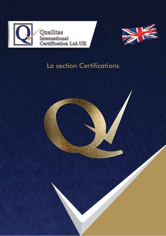 La section Certifications