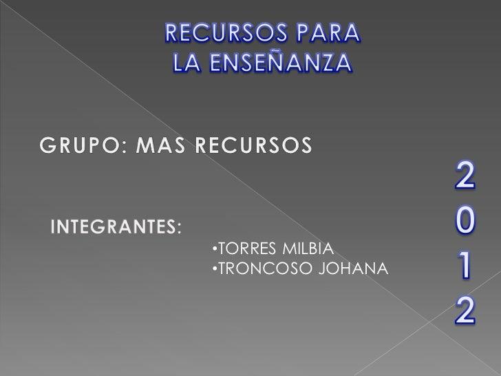 •TORRES MILBIA•TRONCOSO JOHANA