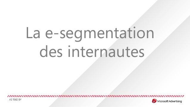 La e-segmentation des internautes
