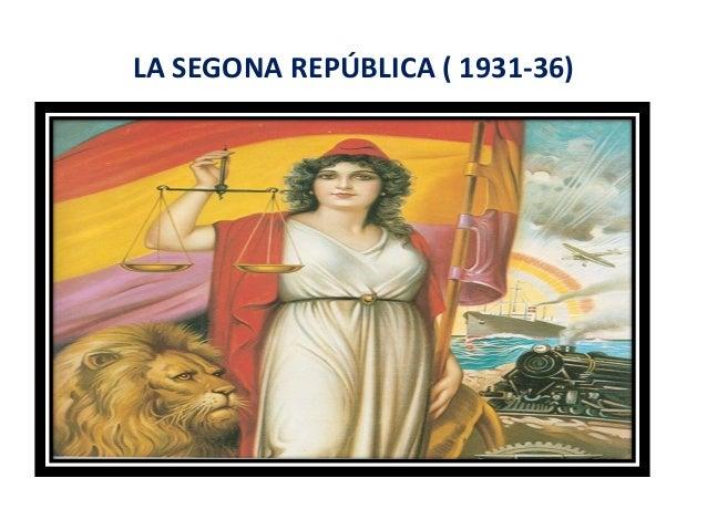 LA SEGONA REPÚBLICA ( 1931-36)