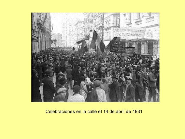 Celebraciones en la calle el 14 de abril de 1931
