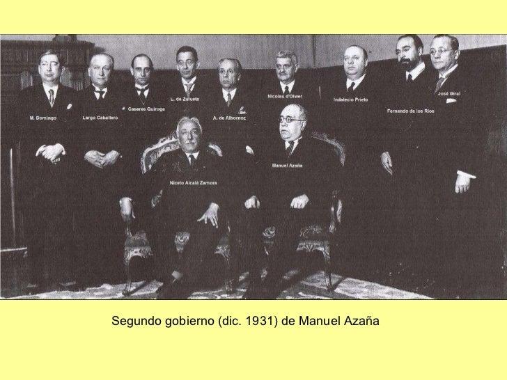 Segundo gobierno (dic. 1931) de Manuel Azaña