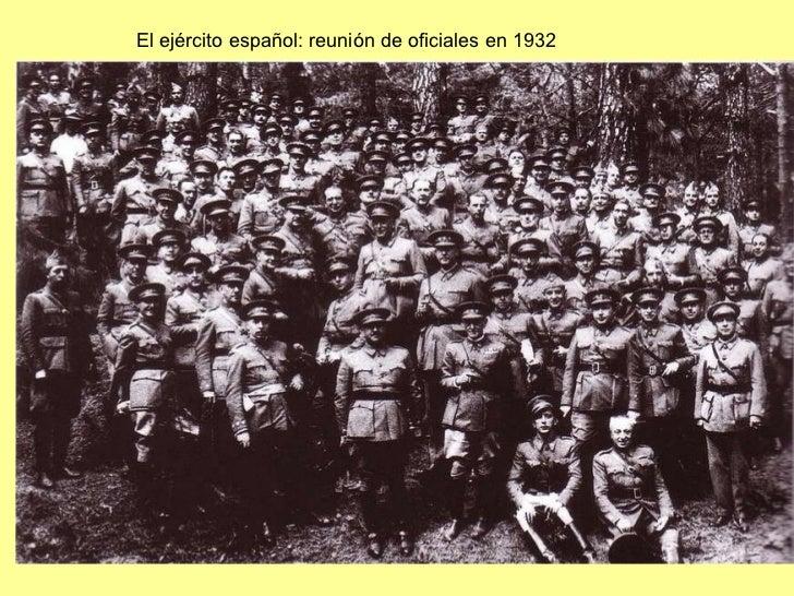 El ejército español: reunión de oficiales en 1932