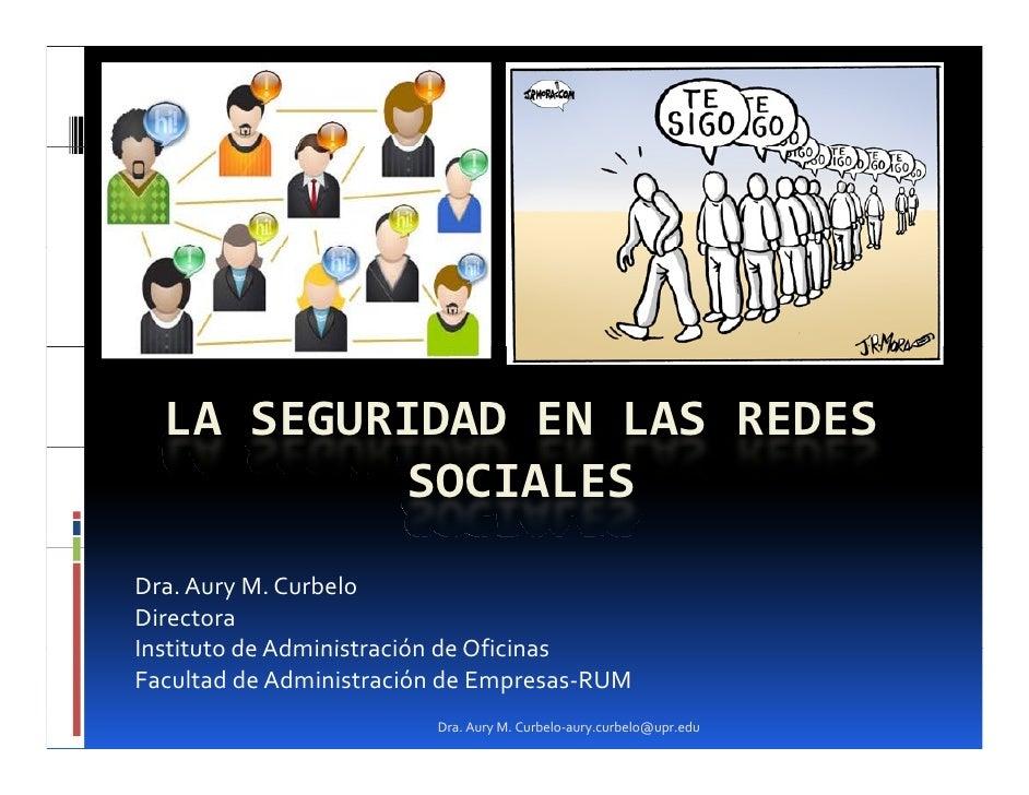 La Seguridad en las Redes Sociales