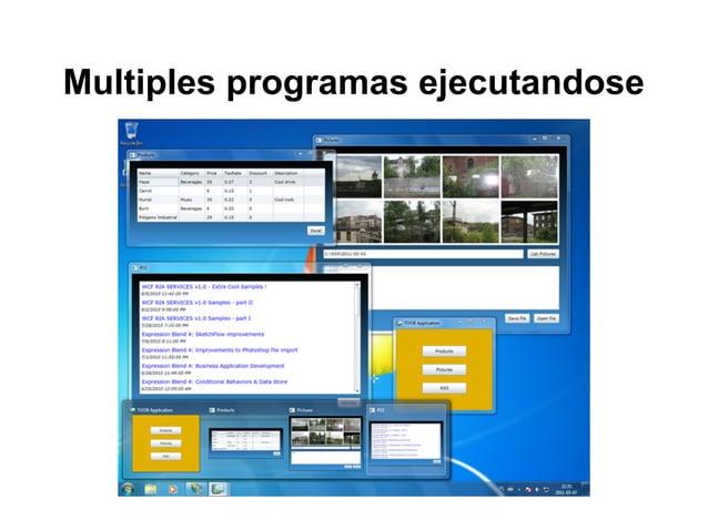 Multiples programas ejecutandose