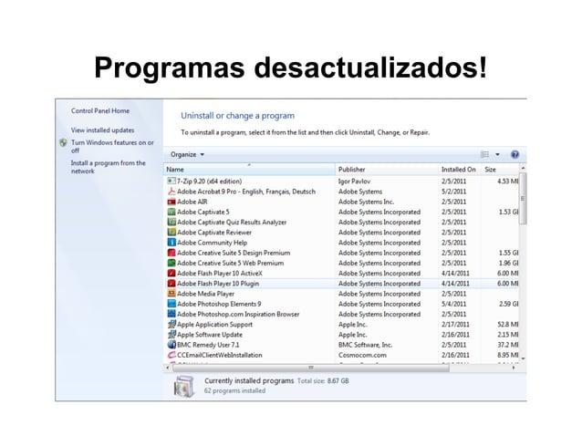 Programas desactualizados!