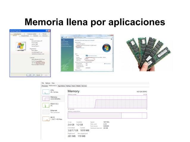 Memoria llena por aplicaciones