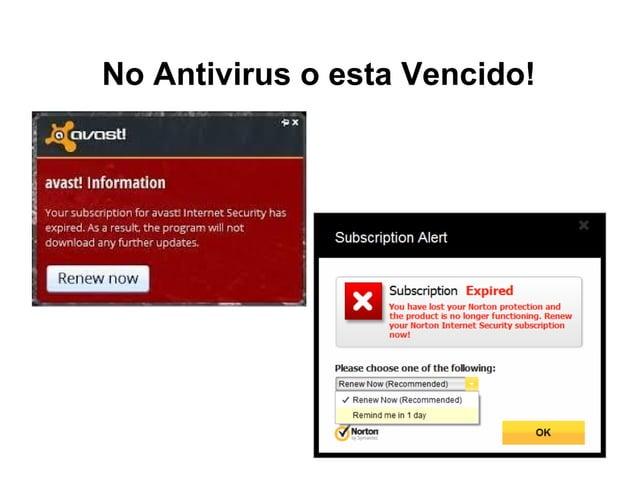 No Antivirus o esta Vencido!